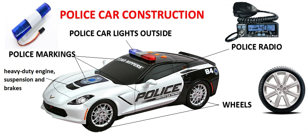 Police car construction