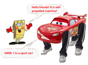 self-propelled machine