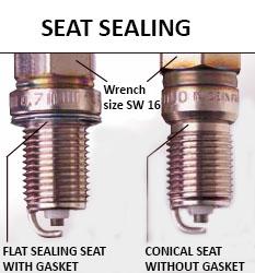 seat sealing spark plug