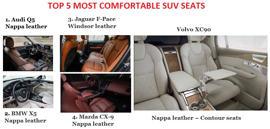 TOP 5 most comfortable SUV seats