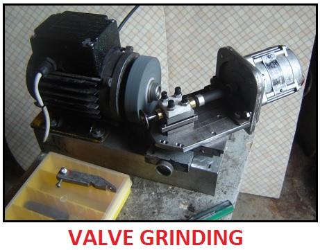 Valve grinding procedure