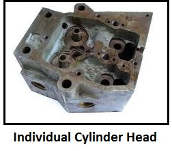 Individual cylinder heads
