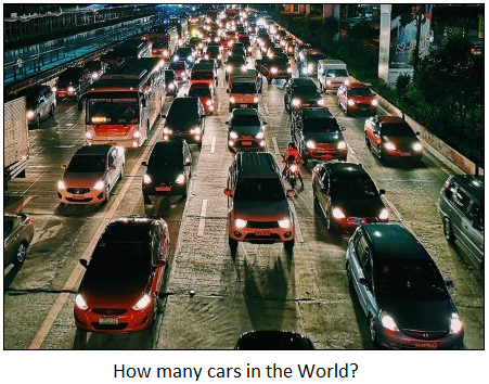 How many cars in the world