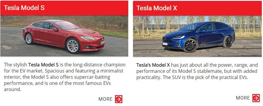 Tesla model X, Tesla model S