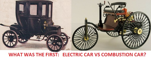 What was the first: electric cars vs combustion cars