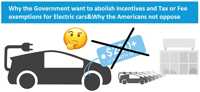 US Government abolish incentives and tax or fee exemptions for electric cars
