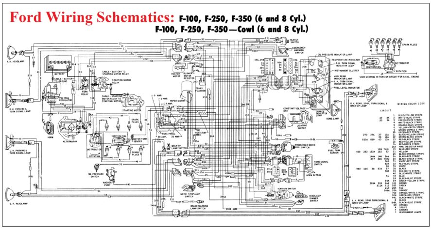 ford wiring schematics  car construction