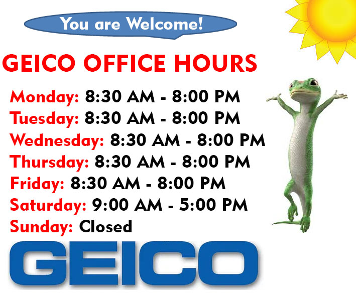 Geico Insurance office Hours