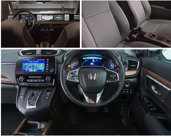 all fully electric Honda interior