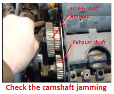 Check the camshaft jamming