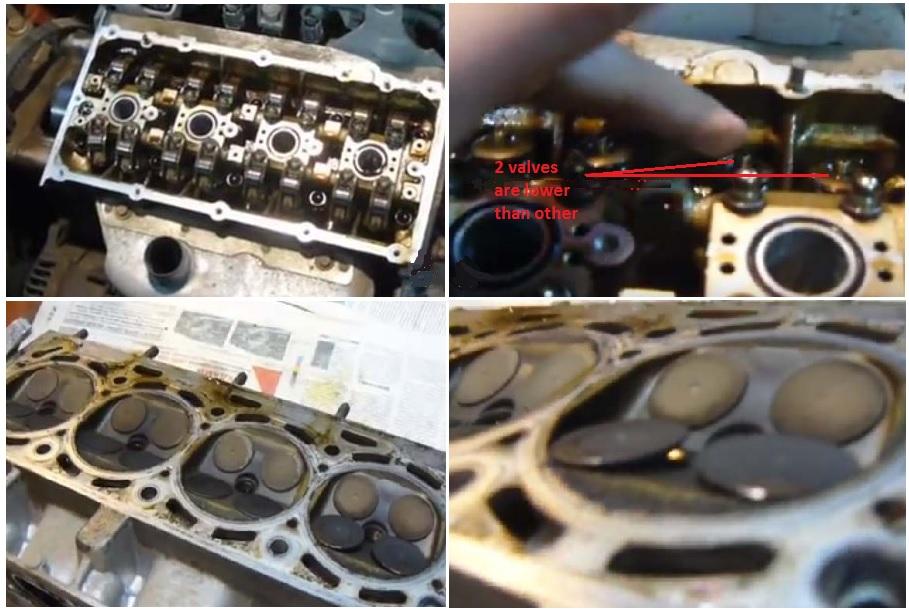 Check the bent valves
