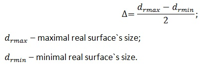 deviations of the cylindrical surfaces calculations