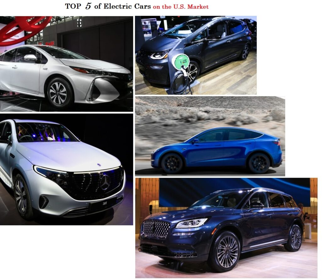TOP 5 Electric car on the U. S. Market