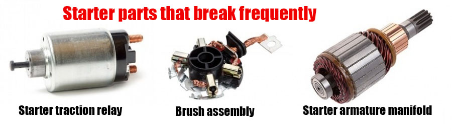 Starter parts that break frequently