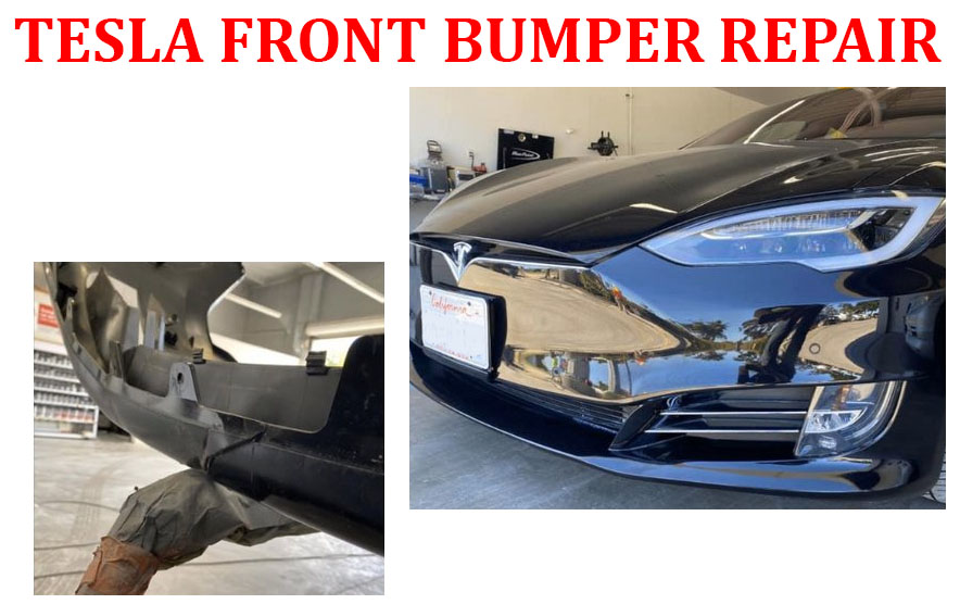 Tesla Front Bumper repair